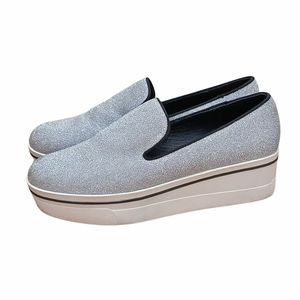 Seed Heritage Size 40 Silver Slip On Platform Sneakers Sparkly
